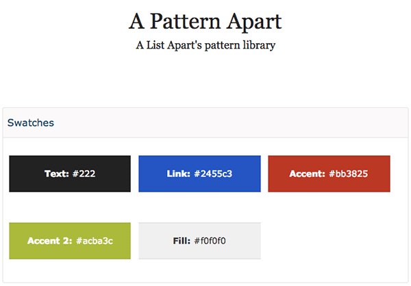 A List Apart's Pattern Library
